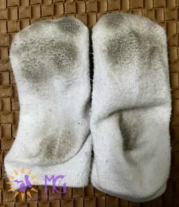 dirty toddler socks