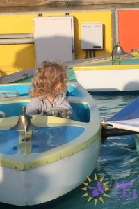 toddler on boat ride