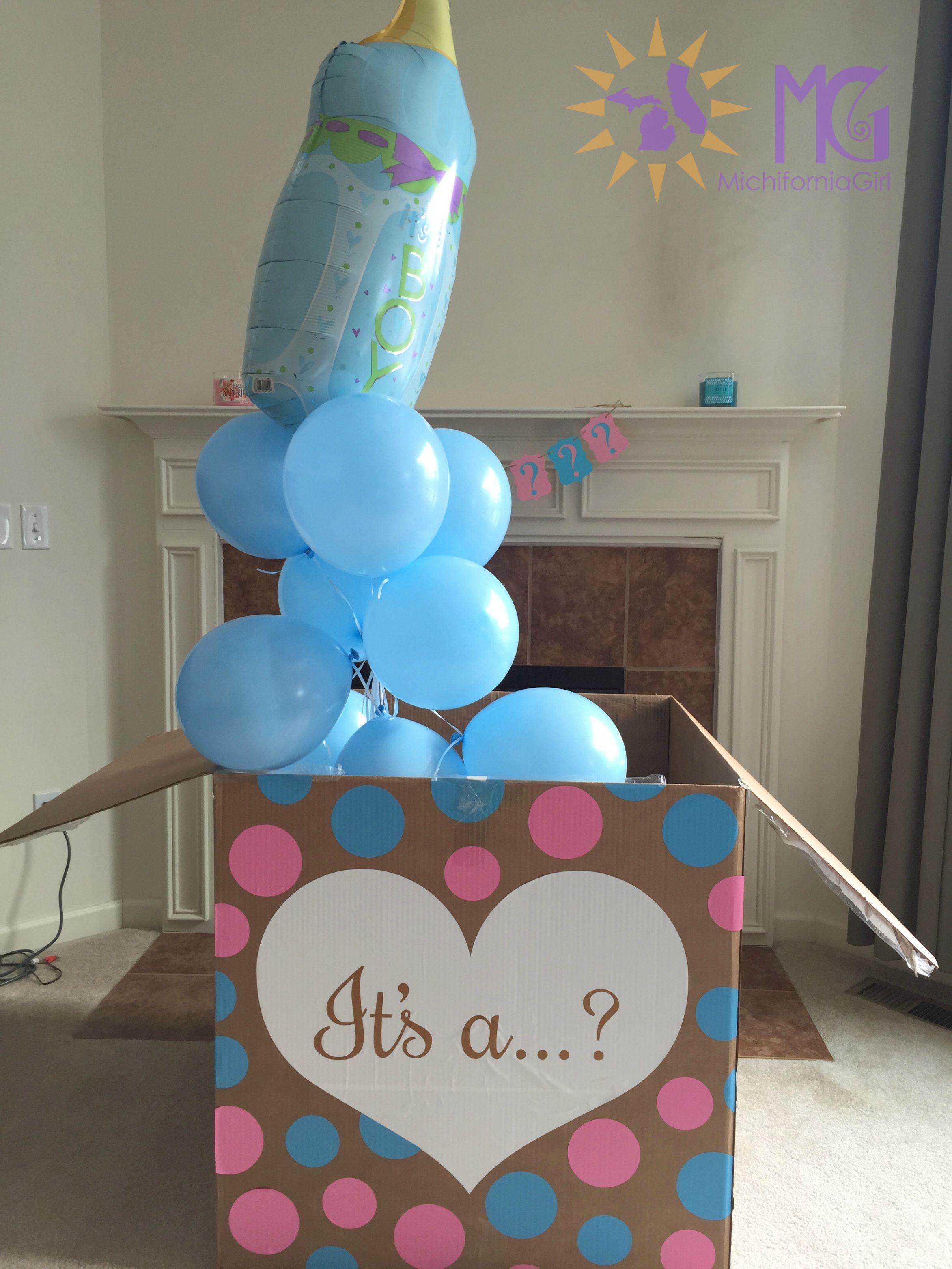 Baby Shower Mailbox Decorations ~ Gender reveal