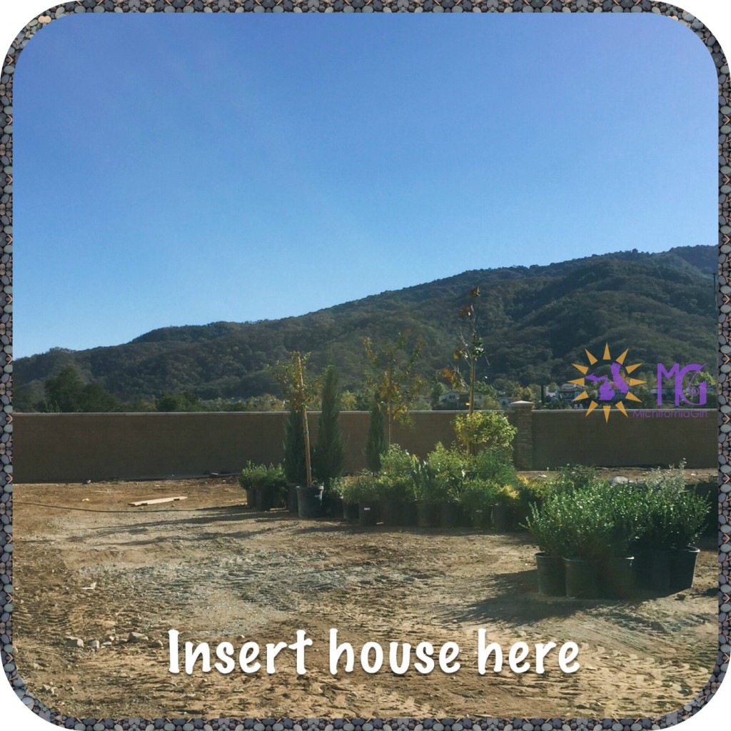 building a house in California: empty lot with view of the mountains