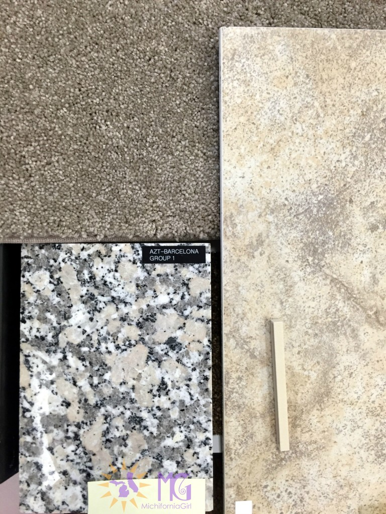 design center choices: carpet, granite, and tile