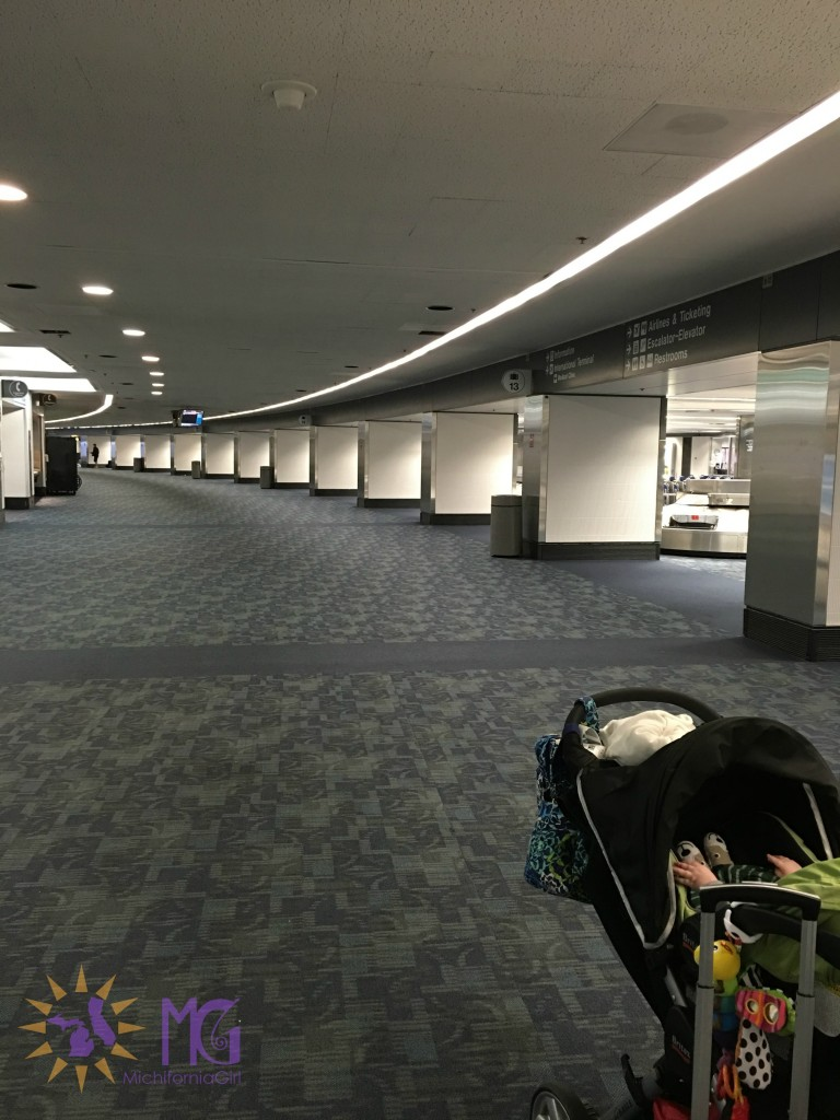 empty airport baggage claim