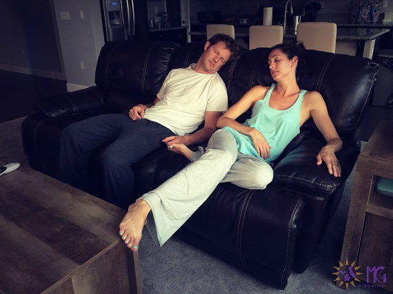 love your spouse challenge couple asleep on the couch date night
