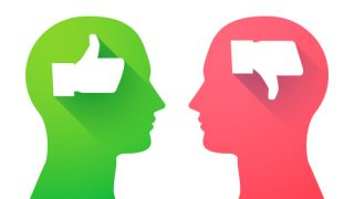 two heads with thumbs up and thumbs down love your spouse follow-up post