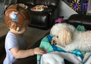 baby playing ball with puppy diary of a dog
