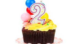 chocolate birthday cupcake two years in california
