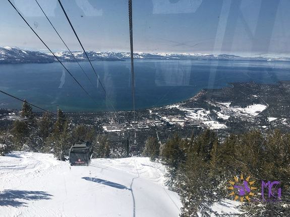 view from the gondola in heavenly, tahoe