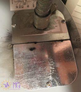 burned water heater