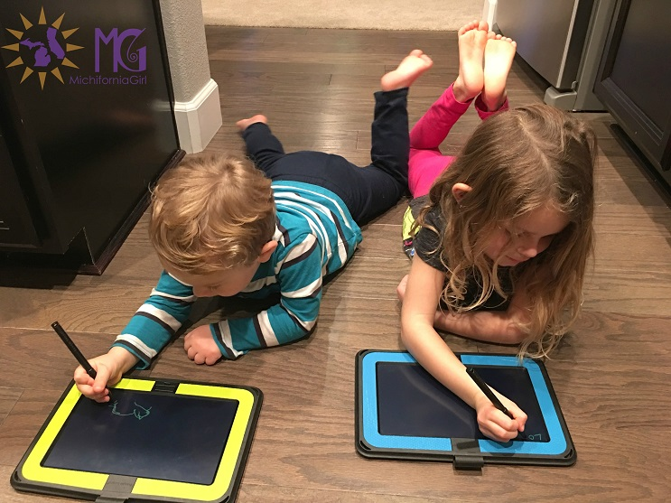 kids writing on boogie boards