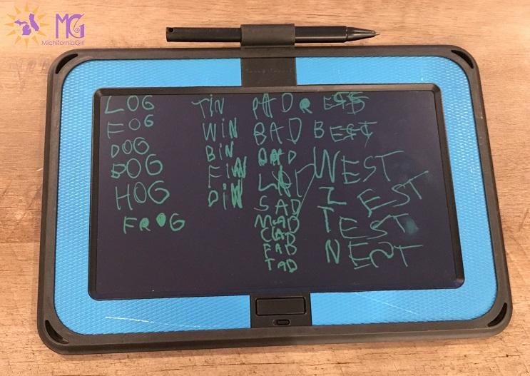 boogie board spelling words